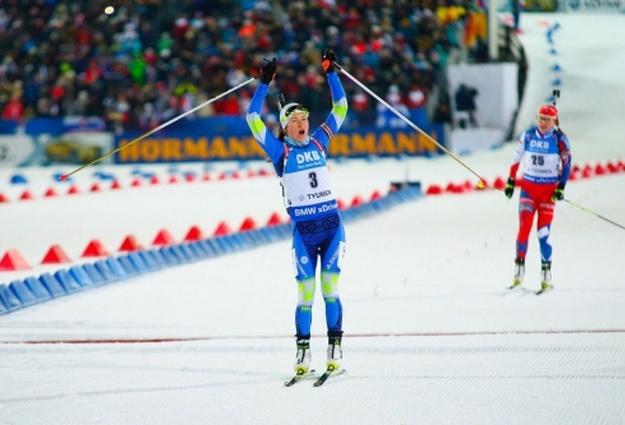 Белоруска Дарья Домрачева выиграла масс-старт наэтапе Кубка мира вТюмени