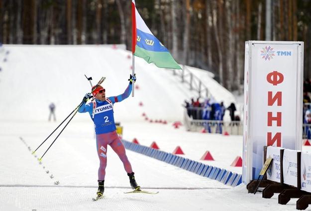 Евгений Гараничев одержал победу масс-старт чемпионата РФ побиатлону