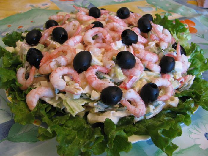 Салат с кальмарами лагуна